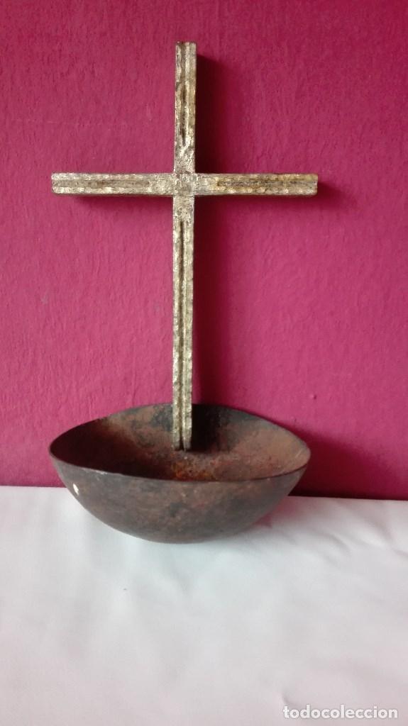 Antigüedades: BENDITERA DE HIERRO - Foto 2 - 180475590