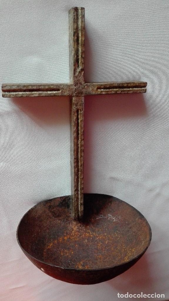 Antigüedades: BENDITERA DE HIERRO - Foto 5 - 180475590