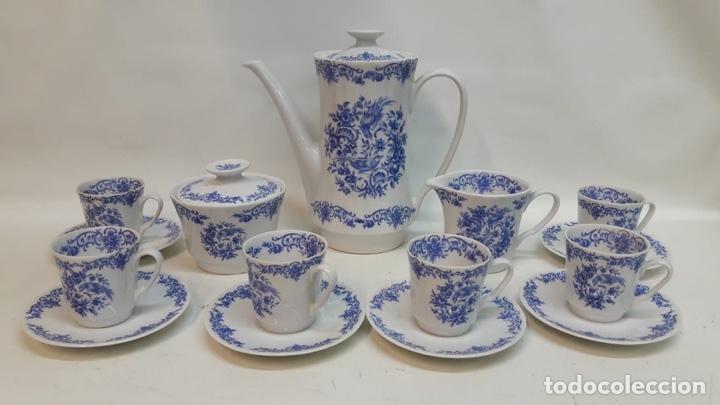 JUEGO CAFÉ O TÉ PORCELANA ALEMANA WUNSCHEN . HACIA 1950-60 (Antigüedades - Porcelana y Cerámica - Alemana - Meissen)