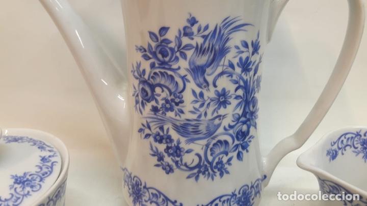 Antigüedades: Juego café o té Porcelana Alemana wunschen . Hacia 1950-60 - Foto 4 - 180477732