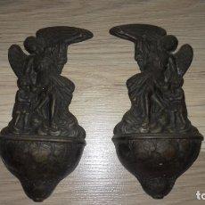 Antigüedades: AGUA MANIS DE METAL 18X10 . Lote 180493612
