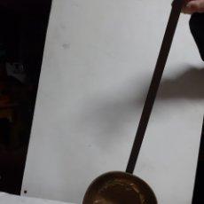 Antigüedades: ANTIGUO CASO EL LATÓN CON EL MANGO EN FORJA REMACHADO. Lote 180495545