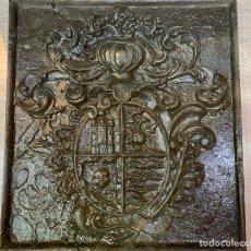 Antigüedades: ESCUDO HIERRO FUNDIDO. Lote 180508342