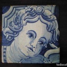 Antigüedades: AZULEJO POMBALINO. HECHO Y PINTADO A MANO.. Lote 180512026