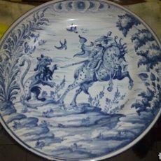 Antigüedades: GRAN PLATO DE TALAVERA 40 CM DE DIAMETRO. Lote 180667082