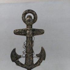 Antigüedades: ANCLA DE PLATA, FILIGRANA. Lote 180837243