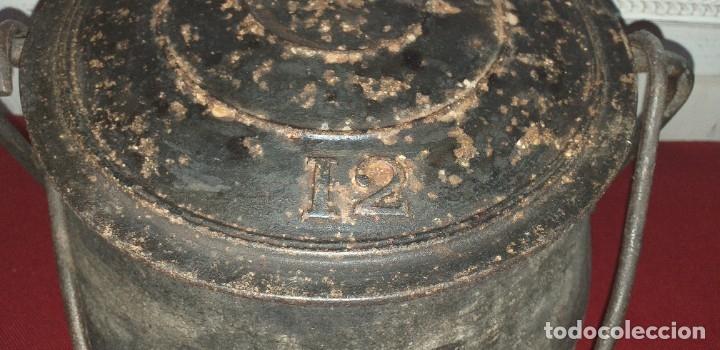 Antigüedades: GRAN OLLA DE HIERRO Nº 12 SIGLO XIX - Foto 3 - 180839318