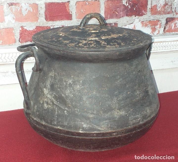 Antigüedades: GRAN OLLA DE HIERRO Nº 12 SIGLO XIX - Foto 6 - 180839318