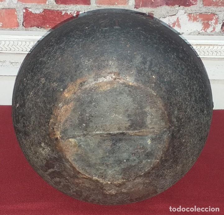 Antigüedades: GRAN OLLA DE HIERRO Nº 12 SIGLO XIX - Foto 9 - 180839318