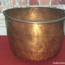 Antigüedades: ANTIGUA OLLA DE COBRE SIGLO XIX. Lote 180839502
