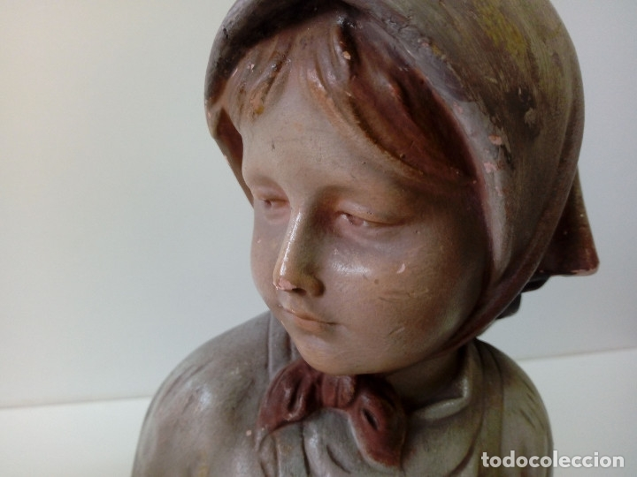 Antigüedades: PAREJA DE NIÑOS TERRACOTA FIRMADAS - Foto 2 - 180847661