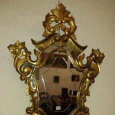 Antigüedades: ESPEJO SIGLO XIX MADERA ORO BUEN ESTADO. Lote 180865290