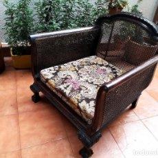 Antigüedades: BUTACA DE REJILLA ANTIGUA. Lote 180869773