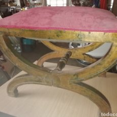 Antigüedades: ESCABEL DESCALZADOR ANTIGUO S XIX. Lote 180878726