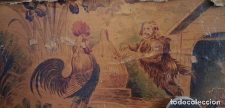 Antigüedades: ANTIGUO BAÚL CON SOPORTE DE MADERA. - Foto 7 - 163972030