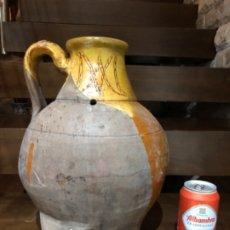 Antigüedades: ANTIGUA MEDIDA DE VINO EN CERÁMICA DE BURGOS . Lote 180892537