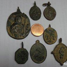 Antigüedades: LOTE DE 7 MEDALLAS RELIGIOSAS ANTIGUAS. Lote 180893925