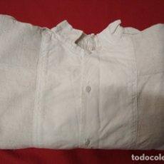Antigüedades: ANTIGUA CAMISA DE LINO MUY GRUESO T37. Lote 180895878