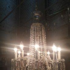 Antigüedades: LÁMPARA ARAÑA DE CRISTAL. Lote 180899915