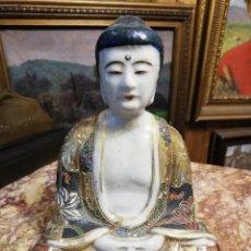 Antigüedades: BUDA - HERMOSA FIGURA EN CERÁMICA DE SATSUMA. Lote 180903717