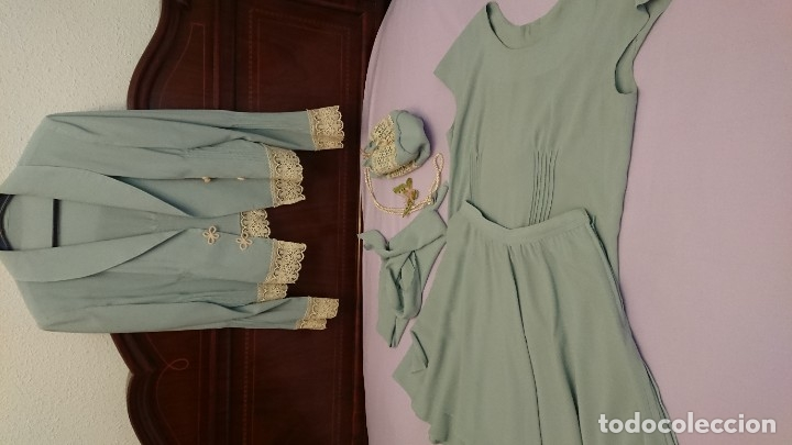 CONJUNTO HECHO A MANO, MUY ANTIGUO (Antigüedades - Moda y Complementos - Mujer)