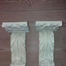 Antigüedades: 2 MENSULAS, SIGLO XVII MADERA Y POLICROMIA. Lote 180934271