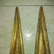 Antigüedades: 2 ORNAMENTOS, SIGLO XVII MADERA Y ORO. Lote 180950027