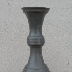 Antigüedades: JARRA DE ESTAÑO CON GRIFO SXIX . Lote 180952268