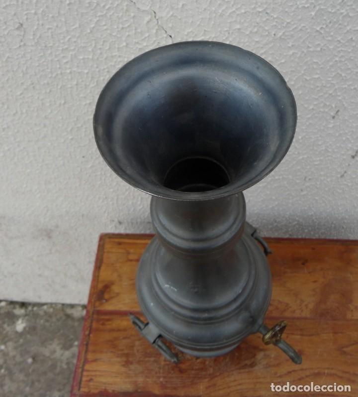 Antigüedades: Jarra de estaño con grifo SXIX - Foto 5 - 180952268