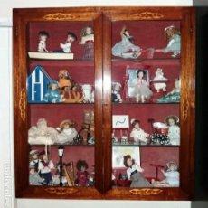 Antigüedades: VITRINA SIGLO XIX MADERA MARQUETERIA BUEN ESTADO. Lote 180953778