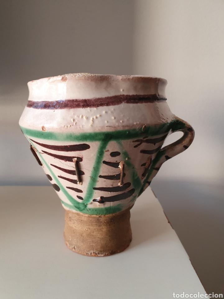Antigüedades: Antiguo Mortero Teruel XVII XVIII - Foto 3 - 180954396