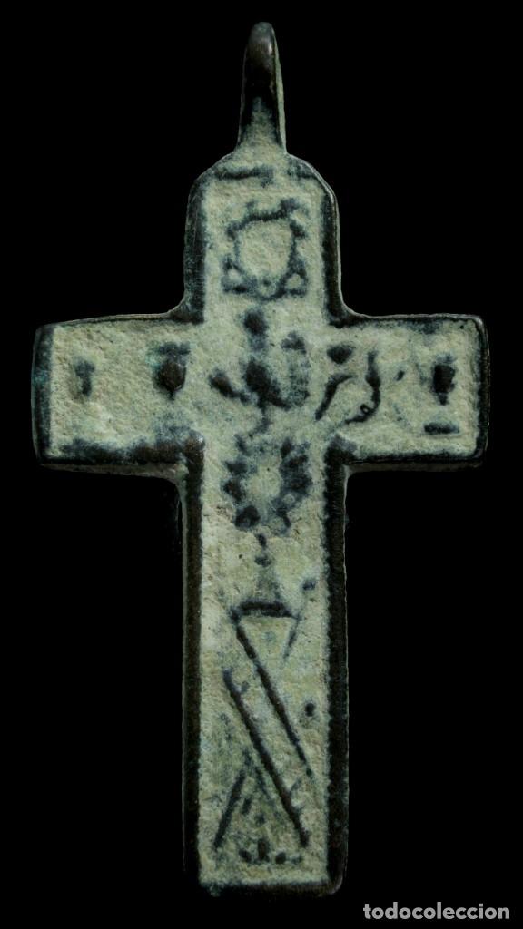CRUZ RELIGIOSA SIGLOS XVI-XVII, 44X23 MM. (Antigüedades - Religiosas - Cruces Antiguas)