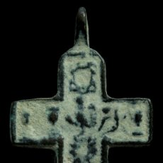 Antigüedades: CRUZ RELIGIOSA SIGLOS XVI-XVII, 44X23 MM.. Lote 180958107