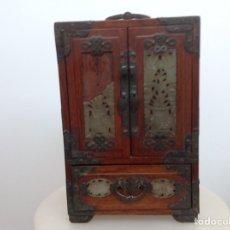 Antigüedades: GRAN JOYERO CHINO CON APLICACIONES DE JADE.. Lote 180958538