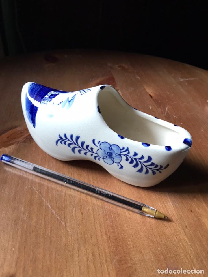 Antigüedades: Zapato-zueco Delf azul Holanda - Foto 5 - 180967971