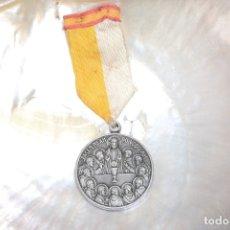 Antigüedades: MEDALLA VINTAGE DE UN CONGRESO EUCARISTICO CON LA IMAGEN DE LA SANTA CENA Y PIUS XII. Lote 180973246