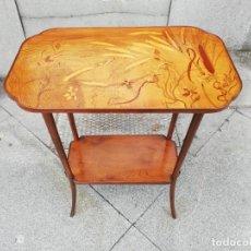 Antigüedades: MESA ART NOUVEAU FIRMADA GALEE. Lote 180973701