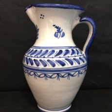 Antigüedades: JARRA TALAVERA ANTIGUA FIRMADA. Lote 180981167