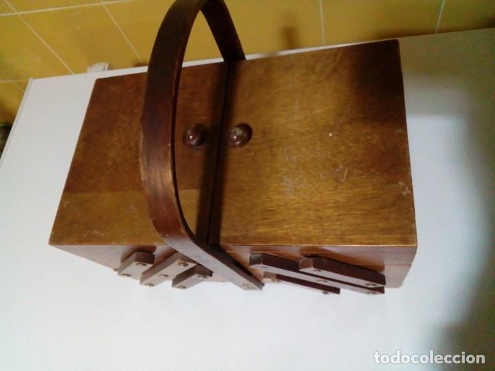 Antigüedades: ANTIGUO COSTURERO DE MADERA - Foto 2 - 180983347