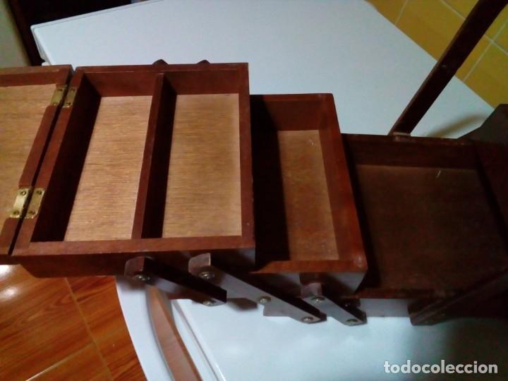 Antigüedades: ANTIGUO COSTURERO DE MADERA - Foto 4 - 180983347