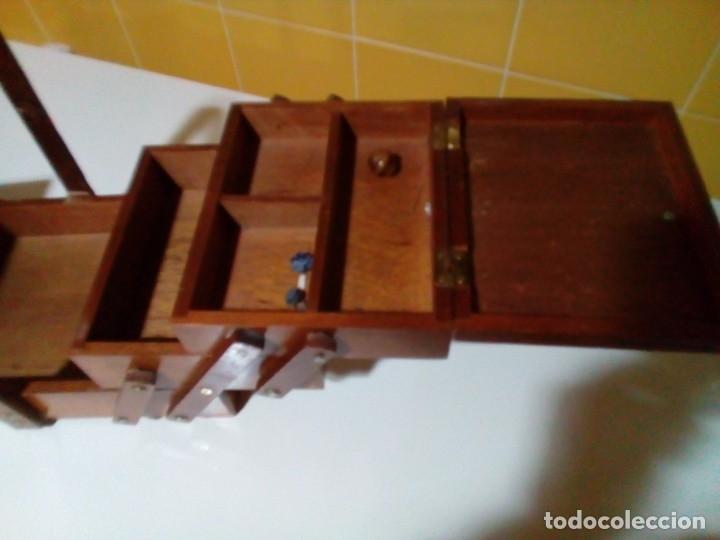Antigüedades: ANTIGUO COSTURERO DE MADERA - Foto 5 - 180983347