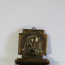 Antigüedades: BENDITERA EN BRONCE. Lote 180993355