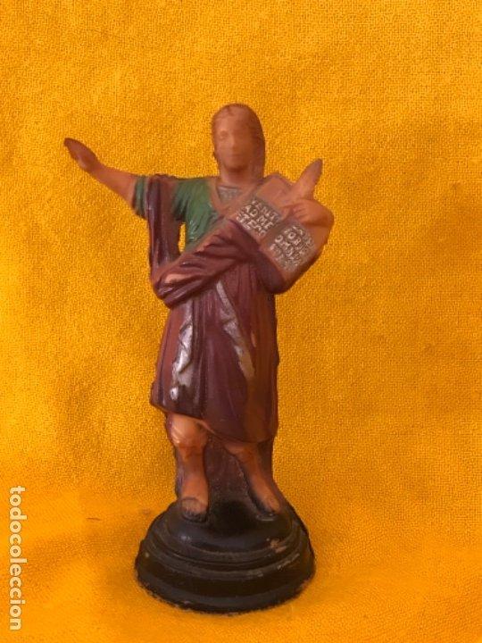 SAN PANCRACIO ANTIGUA FIGURA VINTAGE PLASTICO DURO POLICROMADA 15,5 CM SANTO PANCRACIO (Antigüedades - Religiosas - Varios)