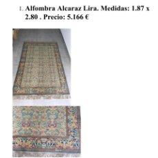 Antigüedades: ANTIGUA ALFOMBRA NISTAL. Lote 181014423