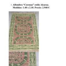 Antigüedades: ANTIGUA ALFOMBRA NISTAL. Lote 181015665