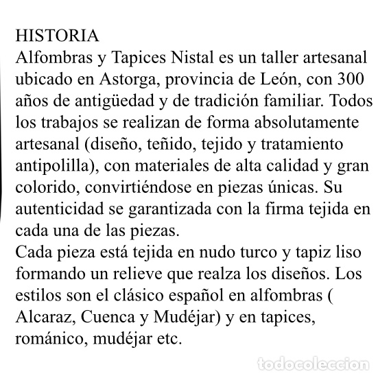 Antigüedades: Antiguo tapiz Nistal - Foto 2 - 181016013