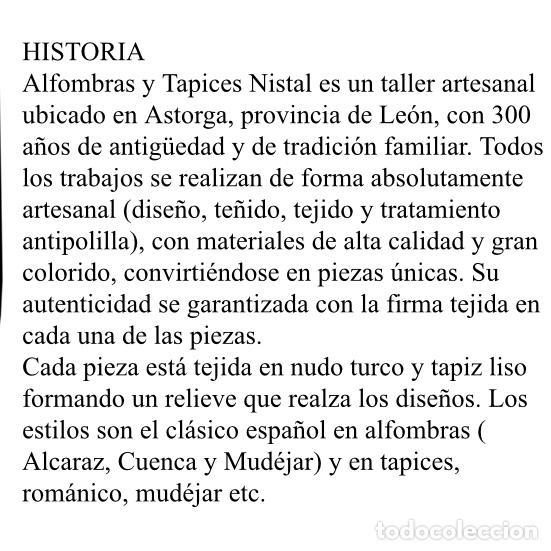 Antigüedades: Antiguo tapiz Nistal - Foto 3 - 181016772