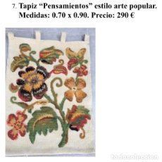 Antigüedades: ANTIGUO TAPIZ NISTAL. Lote 181016772