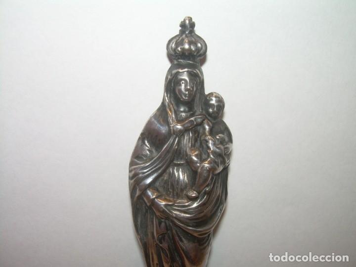 Antigüedades: ANTIGUA IMAGEN RELIGIOSA SIGLO XIX....DE... PLATA... CON RELICARIO EN LA ESPALDA. - Foto 2 - 181019706