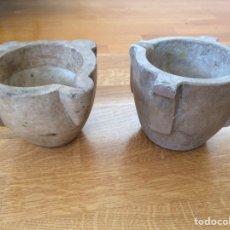 Antiquités: LOTE DE DOS MORTEROS DE PIEDRA. Lote 181028511